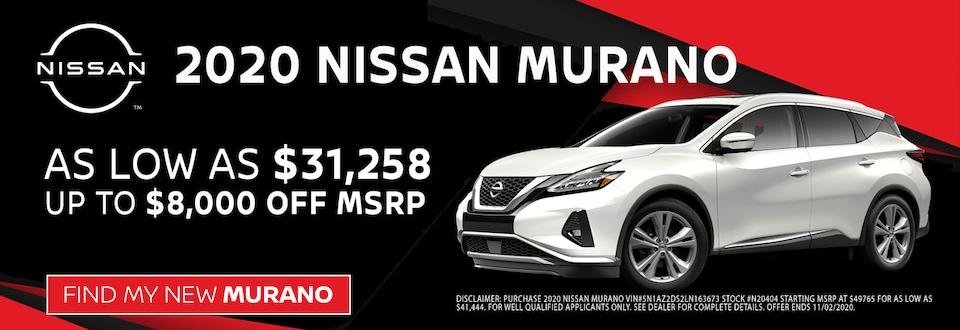 2020 Nissan Murano at Blaise Alexander Nissan in Muncy PA
