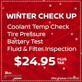 Time for your Winter Check Up