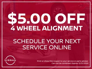 $5.00 Off 4 Wheel Alignment