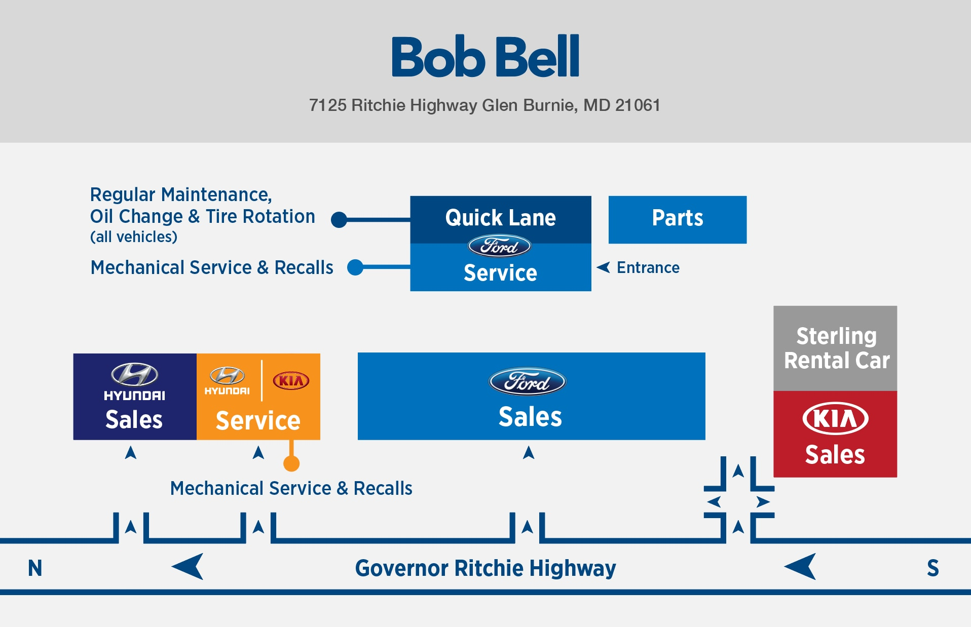 Directions To Bob Bell Hyundai In Glen Burnie Baltimore Area
