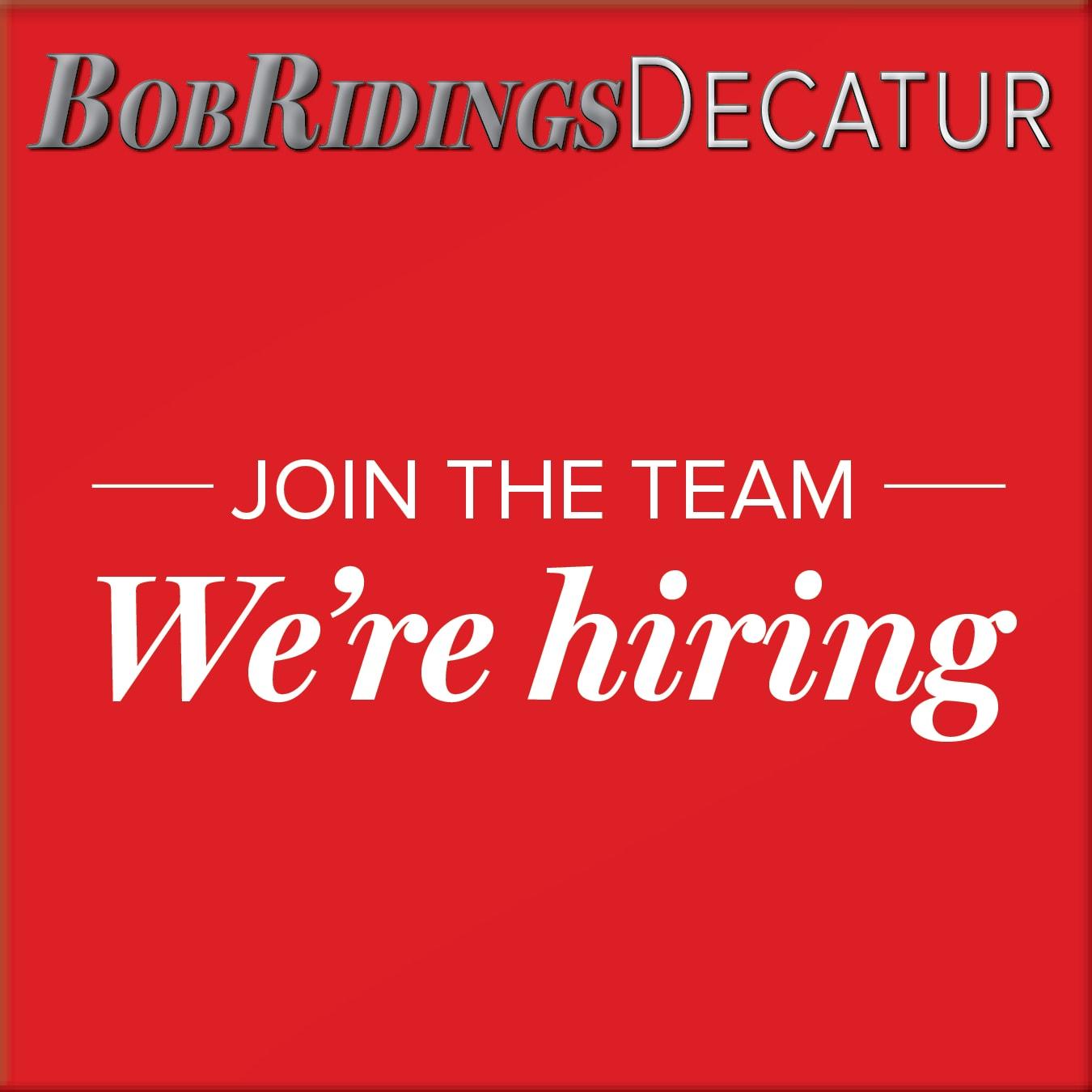 Bob Ridings Decatur Il >> Employment Opportunities Bob Ridings Decatur