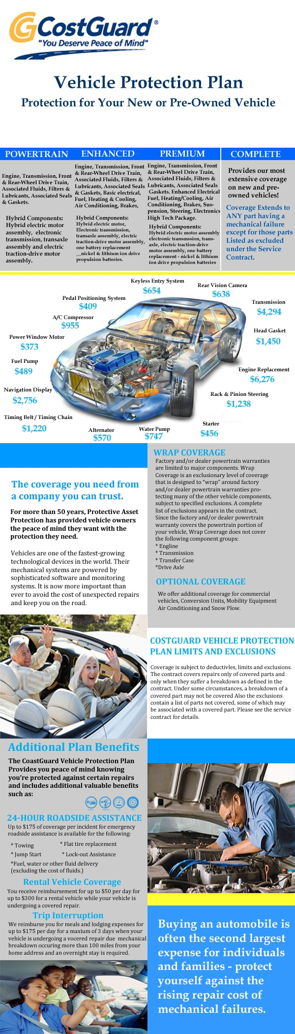 CostGuard vehicle protection
