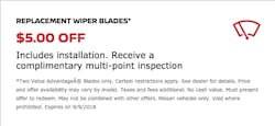 Wiper Blade Offer
