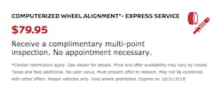 COMPUTERIZED WHEEL ALIGNMENT*- EXPRESS SERVICE