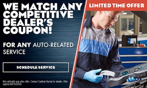We Match Any Competitive Dealer's Coupon