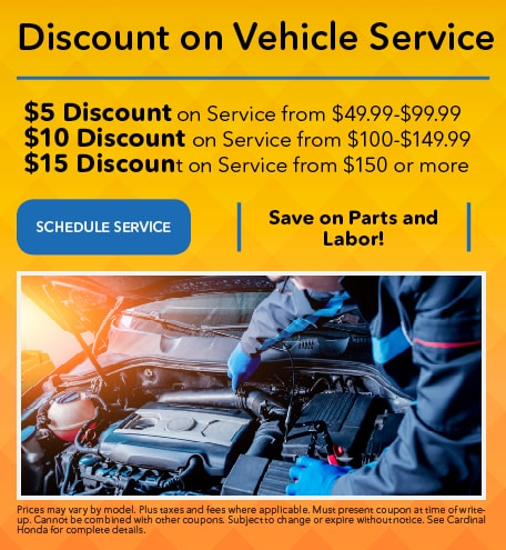 Discount on Vehicle Service