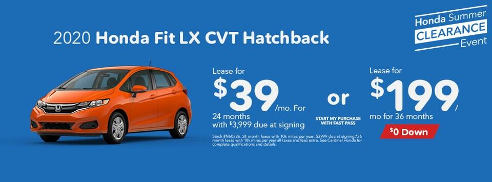 2020 Honda Fit LX CVT Hatchback August