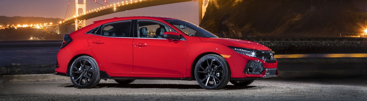 Red 2019 Honda Civic Hatchback Sport Touring