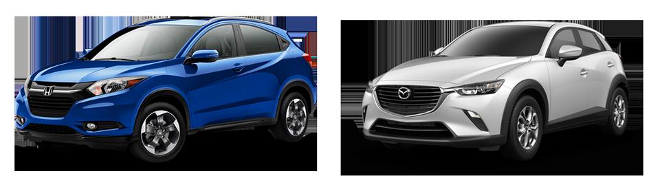 Mazda Cx 3 Vs Honda Hrv >> 2018 Honda Hr V Vs Mazda Cx 3 Crossover Comparison