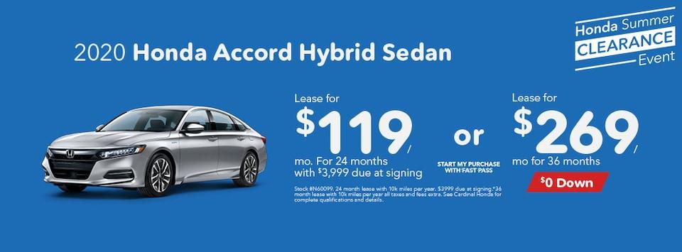 2020 Honda Accord Hybrid Sedan August