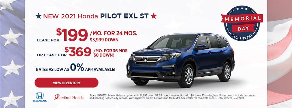 New 2021 Honda Pilot EXL ST