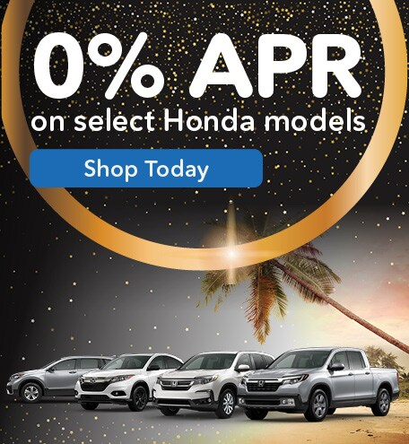 0% APR on Select Honda Models