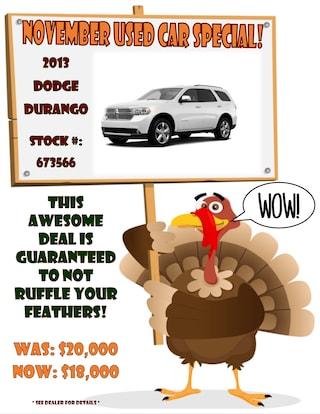 November Used Car Specials
