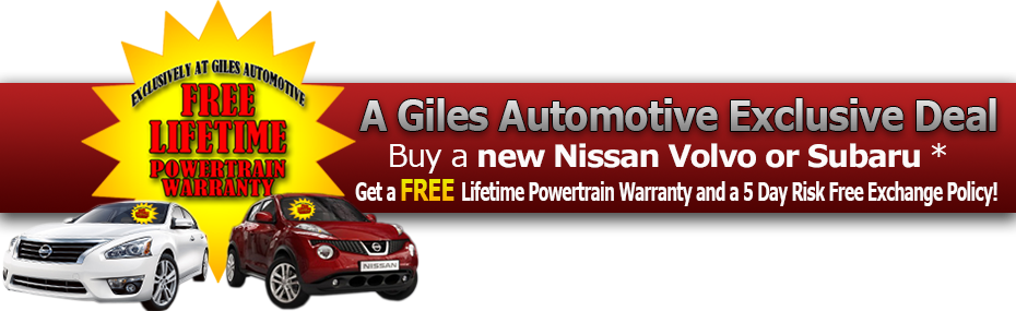 Giles Nissan Lifetime Powertrain Warranty | Giles Nissan