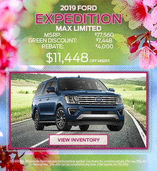 2019 Expedition April Offer