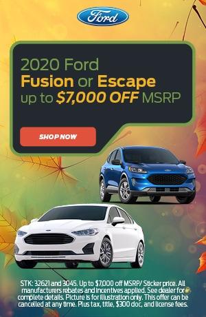 2020 Fusion or Escape Offer
