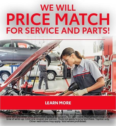 We Will Price Match!