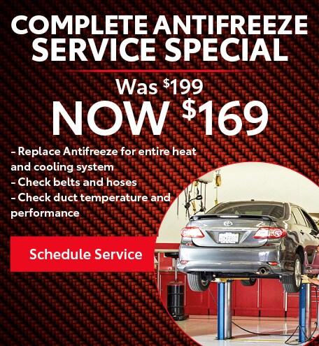 Complete Antifreeze Service Specials