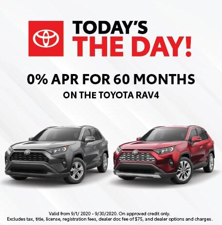 0% APR for 60 Months on Toyota RAV4