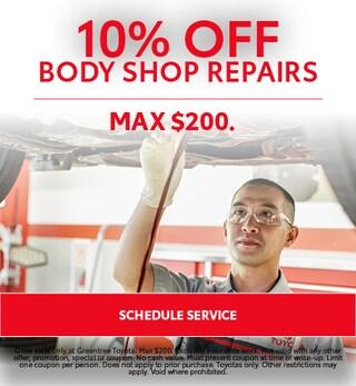 10% Off Body Shop Repairs