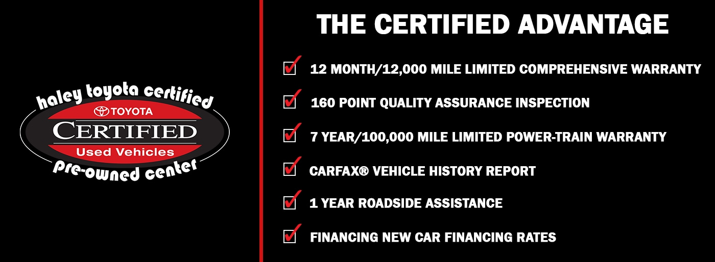 Toyota Certified Pre Owned >> Haley Toyota Certified Used Dealership In Richmond Va
