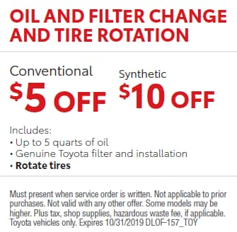 Oil & Filter Change and Tire Rotation