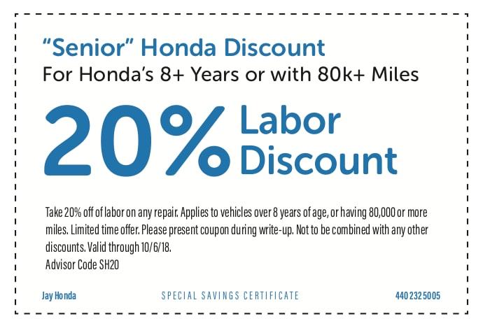 current service coupons jay honda honda service center  cleveland heights  jay honda