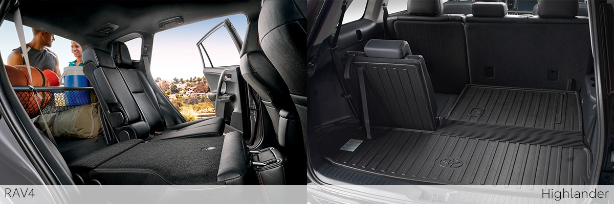 Toyota Highlander Cargo Space >> Rav4 Or Highlander Which Suv Is Right For You Johnstons Toyota
