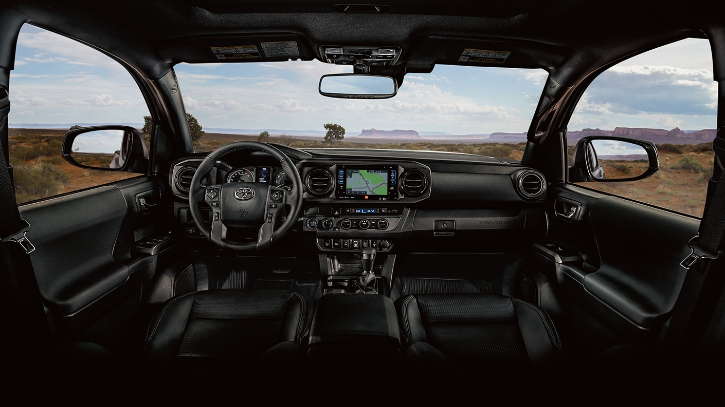 interior view of the 2019 tacoma off road