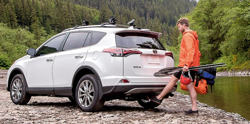 Kick-to-open liftgate on the new 2018 RAV4