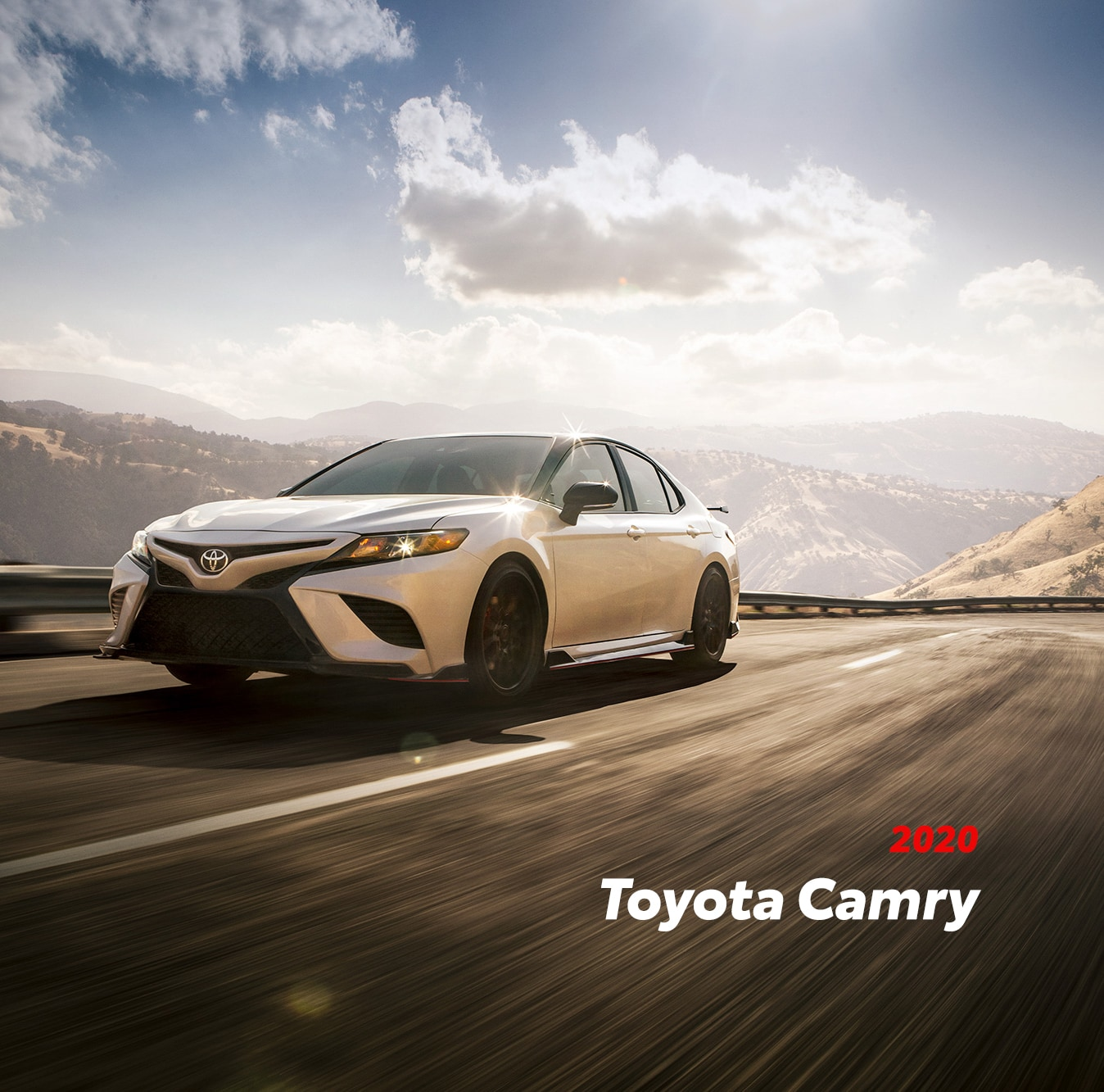 Model Features of the 2020 Toyota Camry at Johnstons Toyota of New Hampton | 2020 camry running on the street
