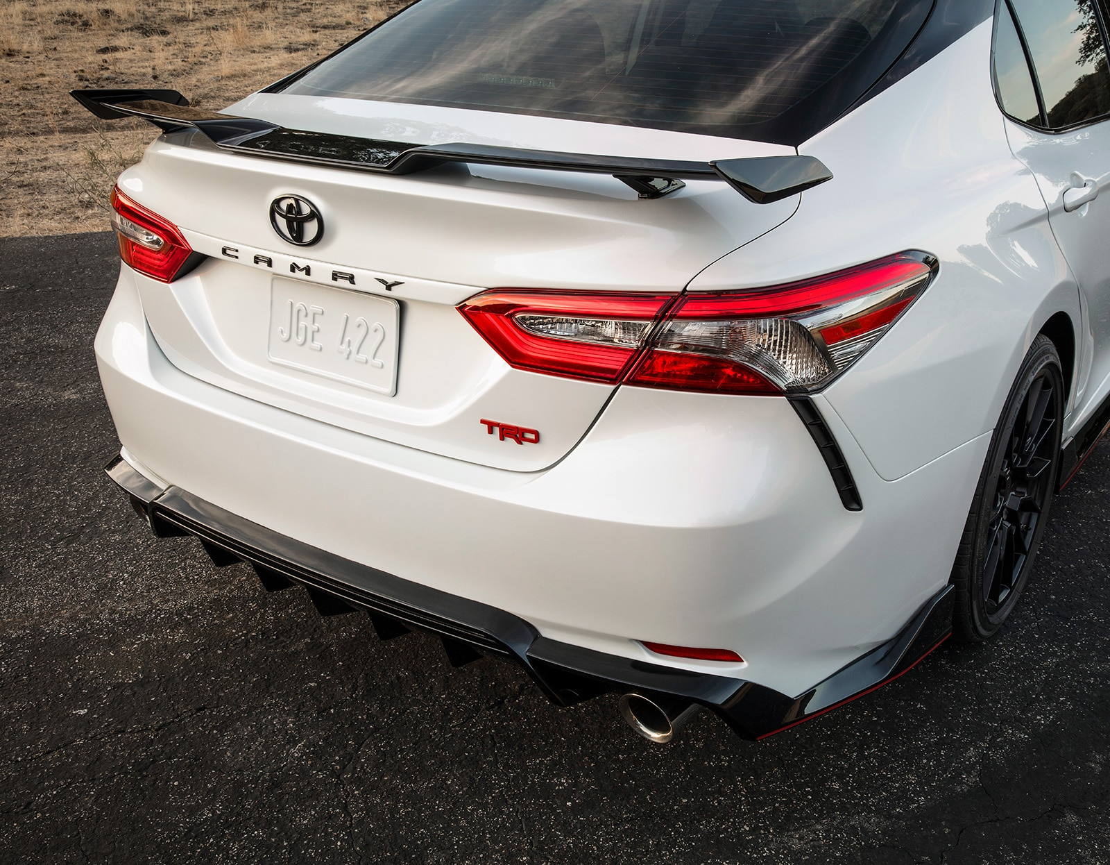 Model Features of the 2020 Toyota Camry at Johnstons Toyota of New Hampton | The tailend of the 2020 camry