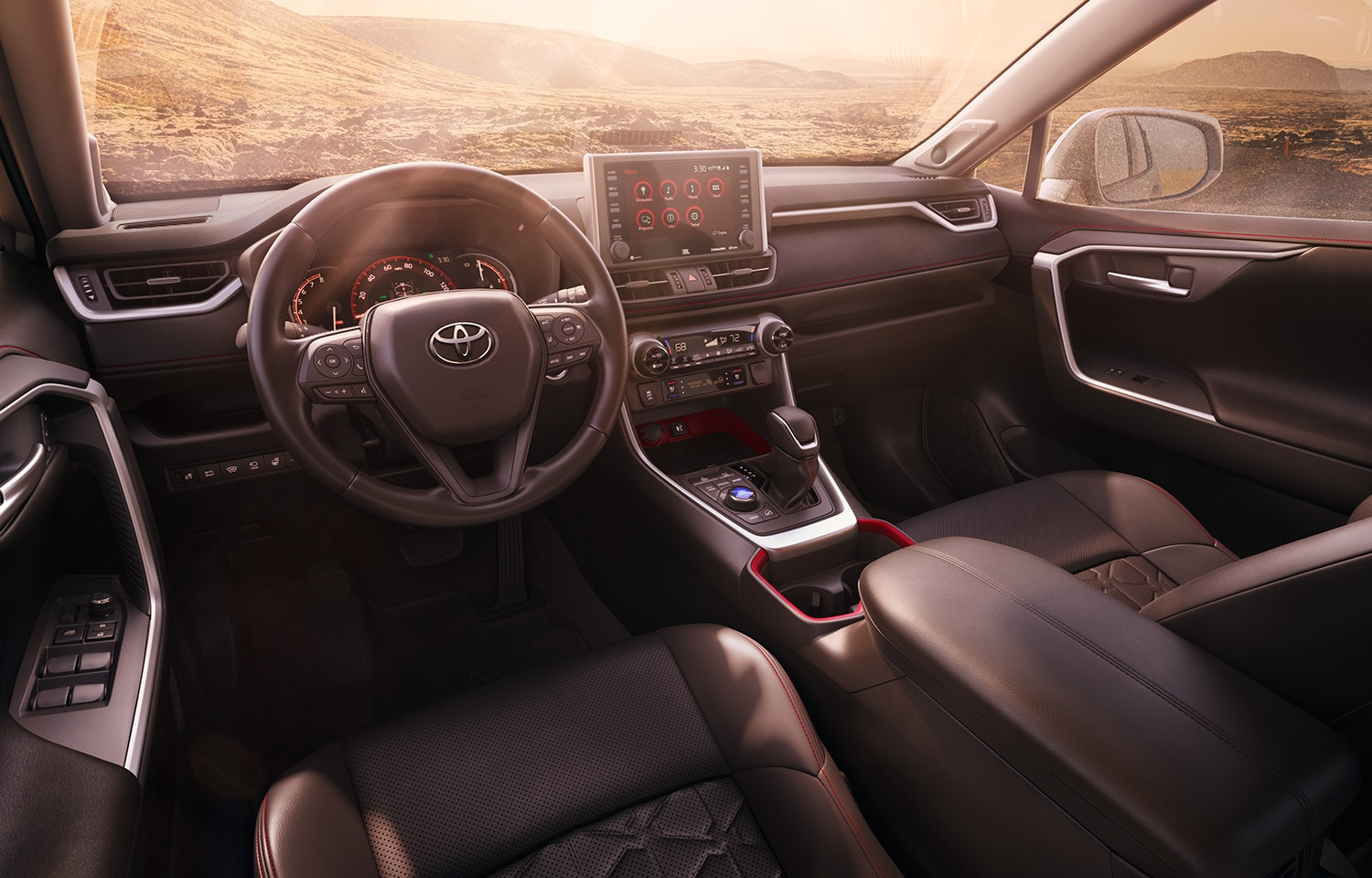 Performance features of the 2020 Toyota RAV4 at Johnstons Toyota | The interior of the 2020 RAV4