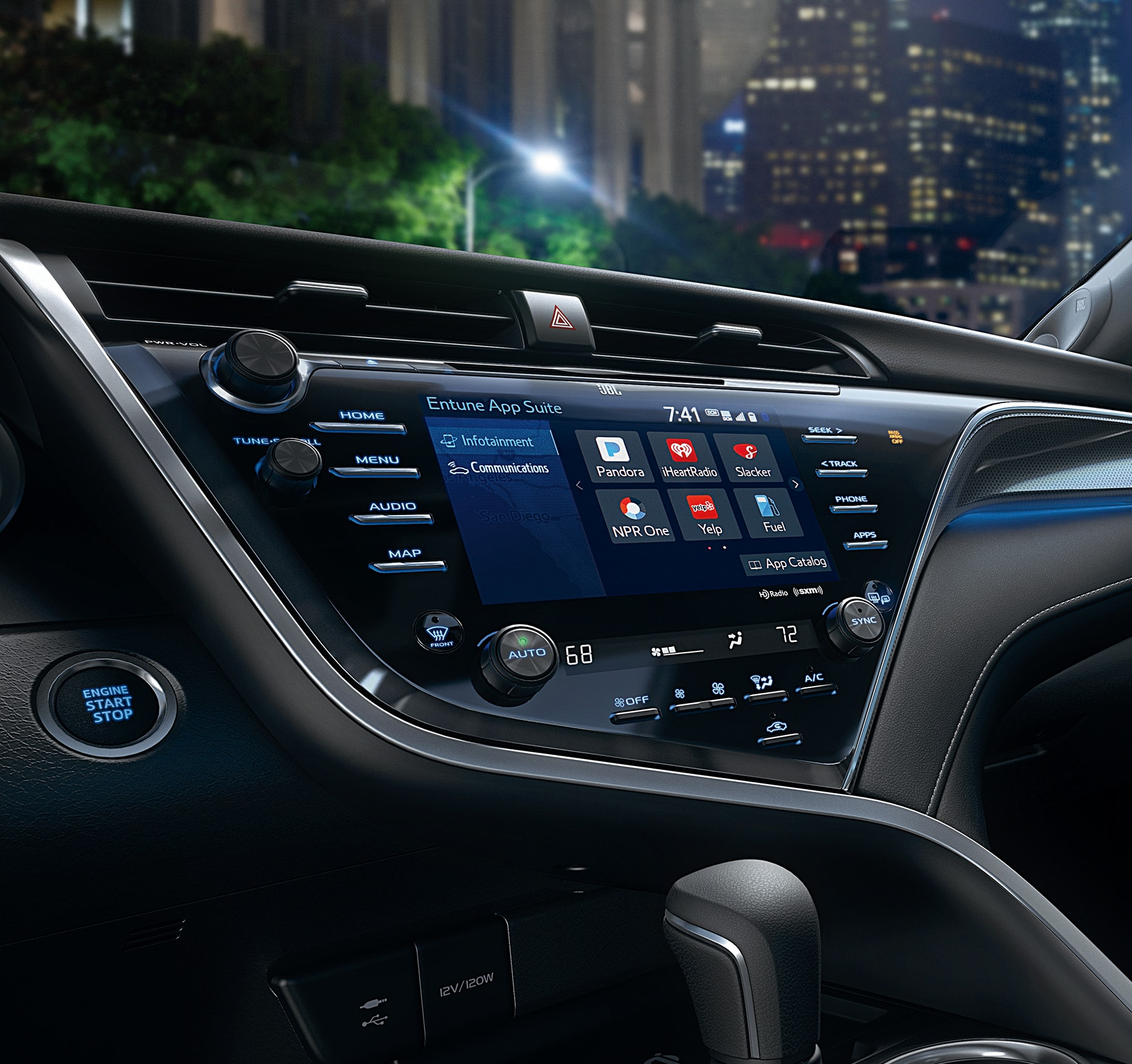 Dashboard of the 2018 Camry with Entune Audio System and Touchscreen