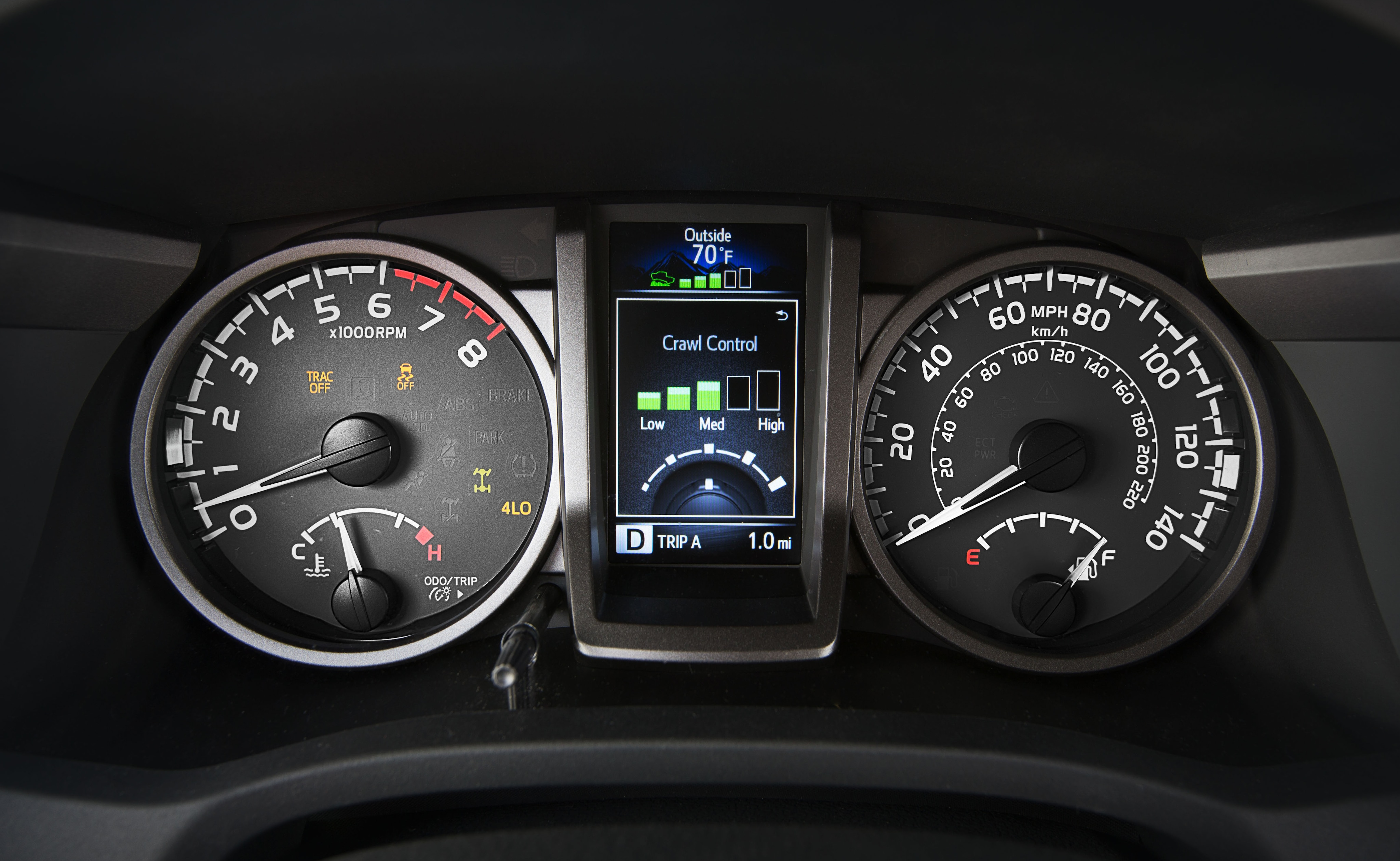 Crawl Control System on the 2018 Tacoma Multi-Informational Display
