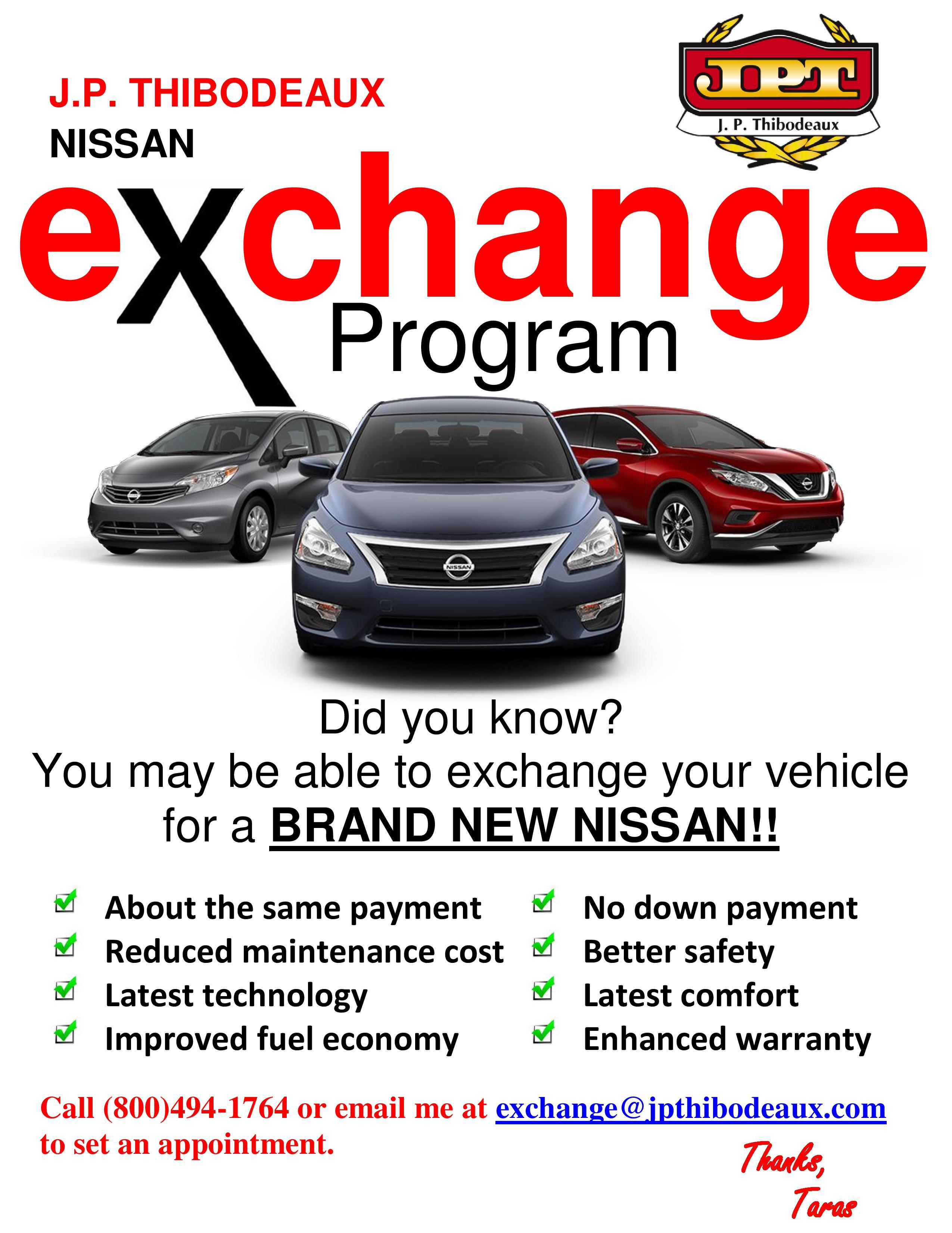Jp Thibodeaux Used >> J.P. Thibodeaux Nissan | New Nissan dealership in New ...