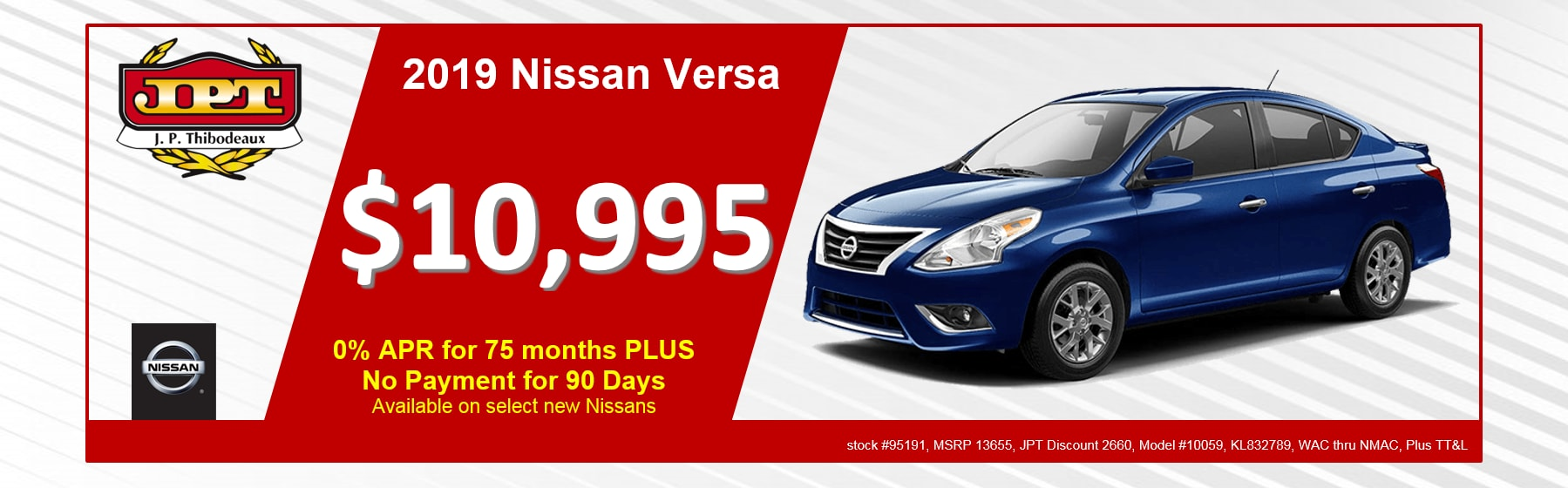 Jp Thibodeaux Nissan >> J.P. Thibodeaux Nissan | New Nissan Dealership in New Iberia, LA