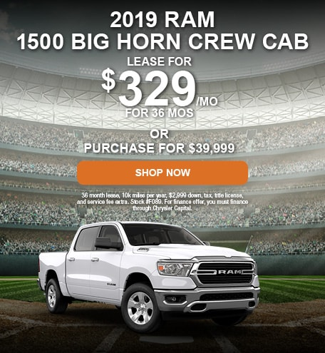 April 2019 RAM 1500 Big Horn Crew Cab Offer