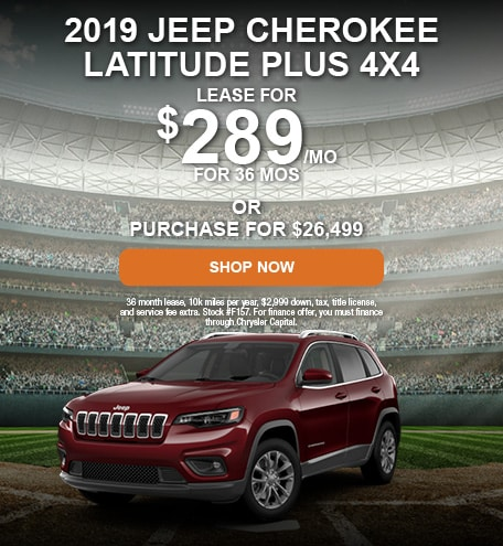 April 2019 Jeep Cherokee Latitude Plus 4x4 Offer