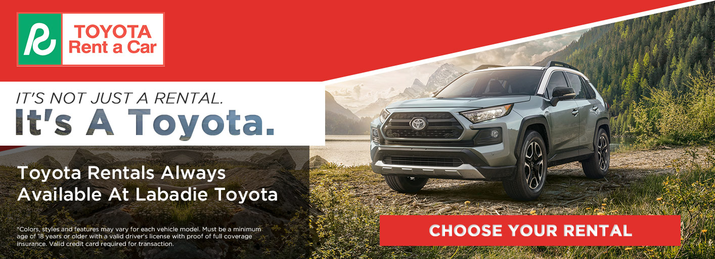 Rent A Toyota New Toyota Car Rentals Near Saginaw Michigan