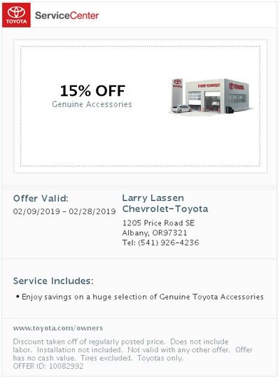Toyota Accessaries Discount