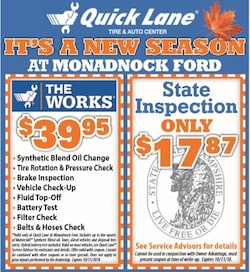 New Season at Monadnock Ford