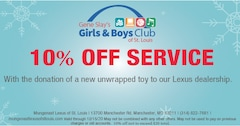 10% Off Service with Donation