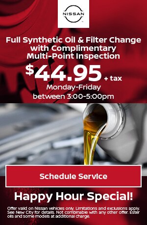 Full Synthetic Oil & Filter Change + Complimentary Multi-Point Inspection