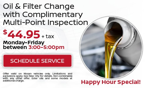 Oil & Filter Change with Complimentary Multi-Point Inspection $44.95 +tax