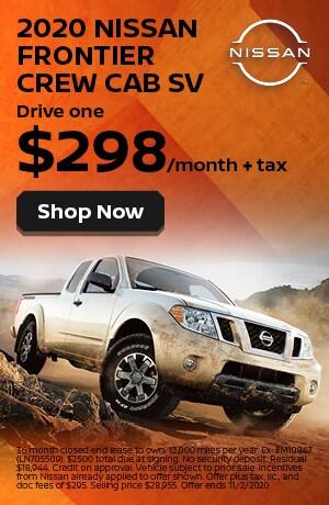 2020 Nissan Frontier - October Offer