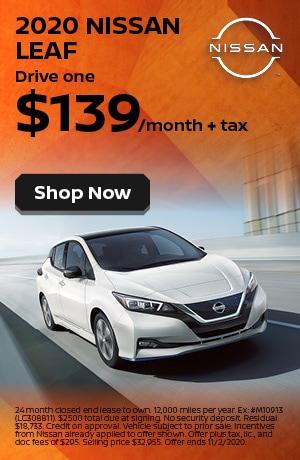 2020 Nissan LEAF - October Offer