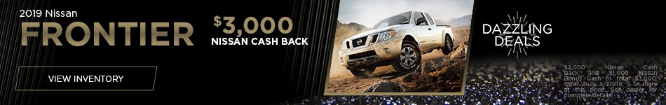 New 2019 Nissan Frontier- April