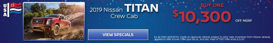 2019 Nissan Titan - February Offer
