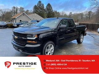 2018 Chevrolet Silverado 1500 4WD Double Cab 143.5 Custom Extended Cab Pickup For Sale in Westport, MA